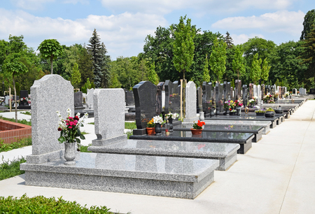 Tomb Stones in the public cemetery Reklamní fotografie