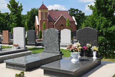 Tomb Stones in the public cemetery 版權商用圖片
