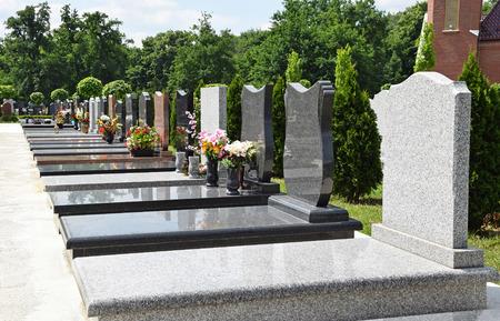 Tomb Stones in the public cemetery Archivio Fotografico