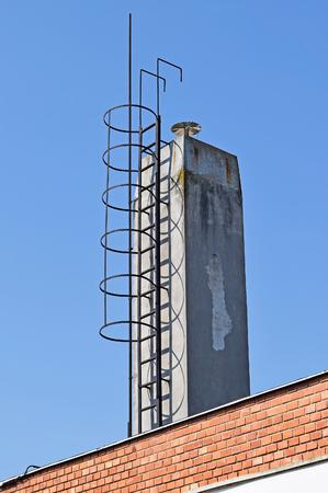 smoke stack: Large smoke stack Stock Photo