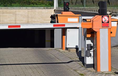no entrance: Parking lot gates