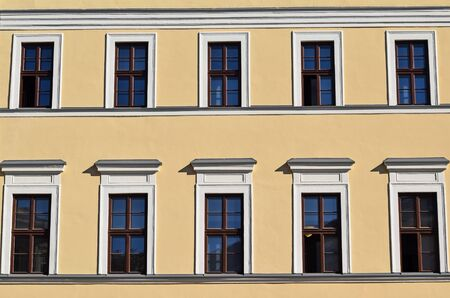 local landmark: Windows of the Reformed College, Debrecen
