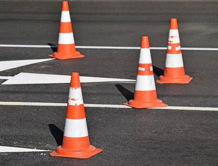 traffic   cones: Traffic cones on the road