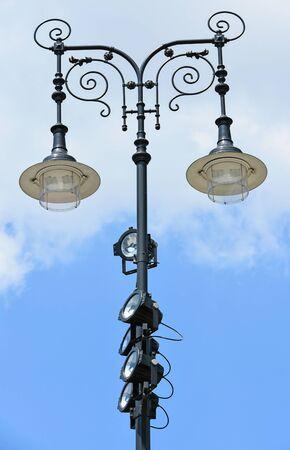 reflectors: Ornate street lights with reflectors