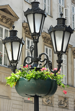 old fashioned: Old fashioned street lights in Budapest city
