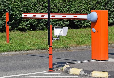Parking lot gate Banco de Imagens