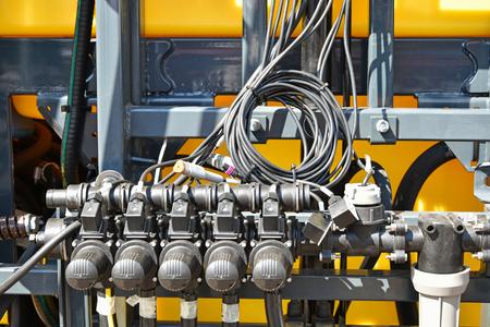 crop sprayer: Part of the crop sprayer machinery Stock Photo