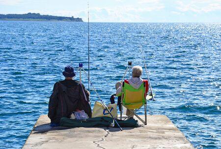 Fishermen at the Adriatic sea