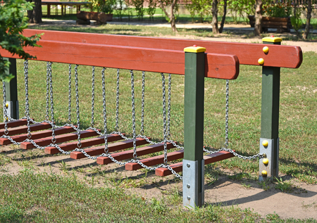 Climbing frame at the playground Stock Photo