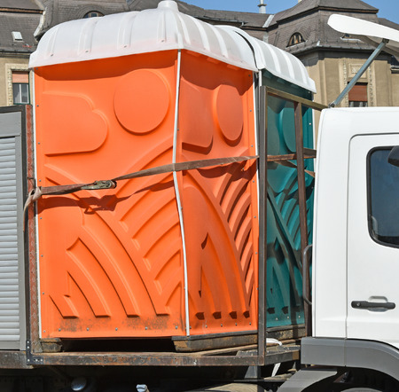 Portable toilets on a vehicle