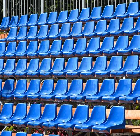 Bleachers of the stadium