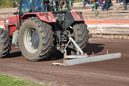 Tractor smooths the way on the dirty sport track