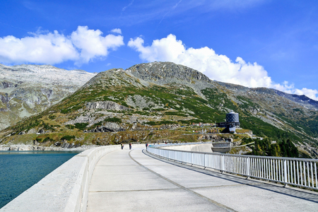 Reservoir and dam at Kölnbrein in Austria