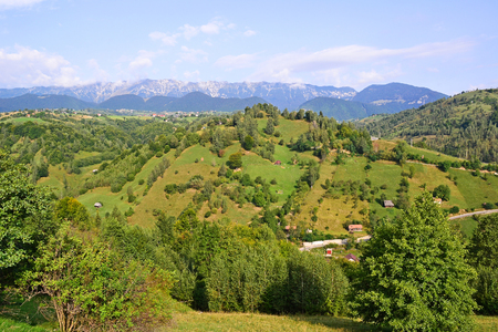View of the Carpathians in Romania  写真素材