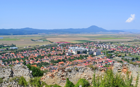 View of Rasnov city, Romania  Stock Photo