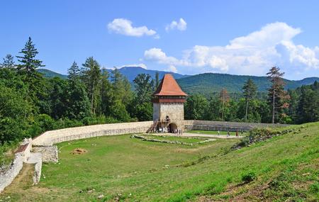 Old stone tower in Rasnov, Romania