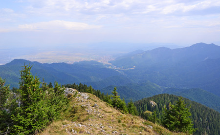 View of the Carpathians in Romania  Stock Photo