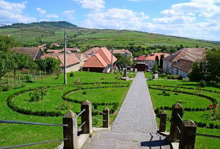 View of the village in Transylvania, Romania  写真素材
