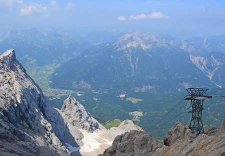 View of Eibsee Zugspitze in Germany