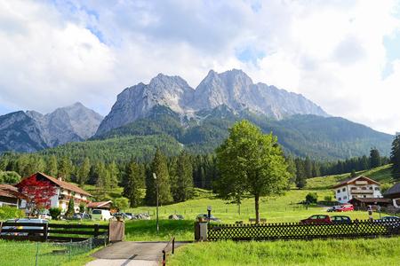 View of Grainau in Germany