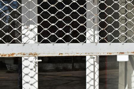 Closed shop door Stockfoto