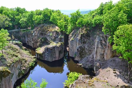 View of the Megyer tarn in Hungary Standard-Bild - 100992736