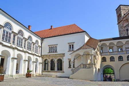Buildings of the Sarospatak fortress in Hungary