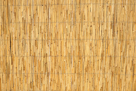 Wall made of reed closeup
