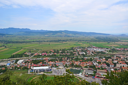 View of the city in Transylvania Romania 写真素材