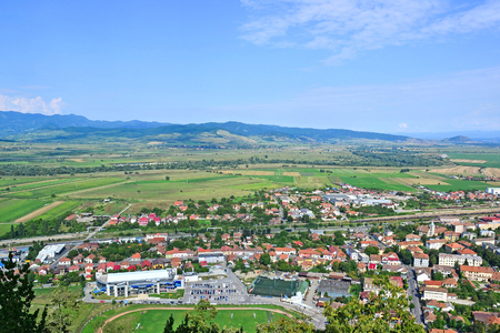 View of the city in Transylvania Romania 写真素材