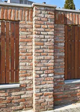Brick fence of a building
