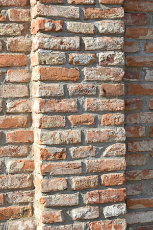 Brick wall of a building