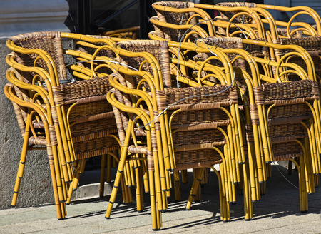 Stacking chairs outdoor