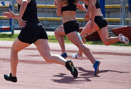 Women at the running race