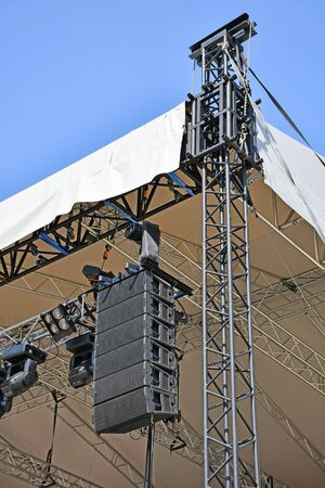 Laudspeakers on the stage pole