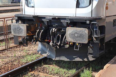 Front side of the train engine Reklamní fotografie