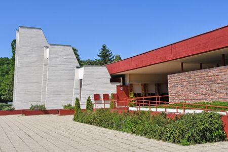 Building of the crematorium in the public cemetery