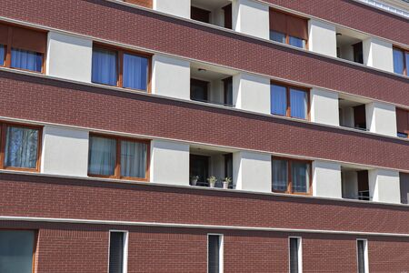 Windows of a modern apartment building