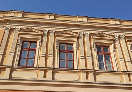 Windows of an old building