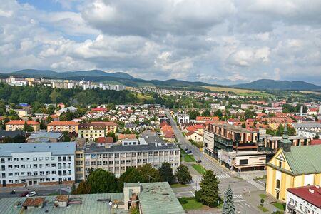 View of Krynica Zdroj Bartfa in Poland
