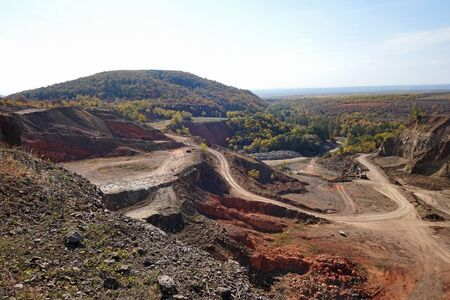 Bauxite mine in the dell of mountain matra, hungary Stockfoto