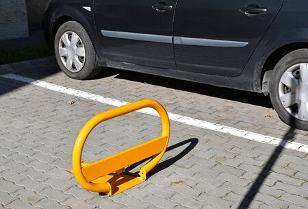 Security barrier at the parking lot