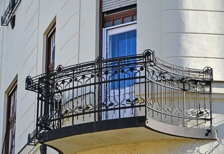 Balcony of an old apartment building
