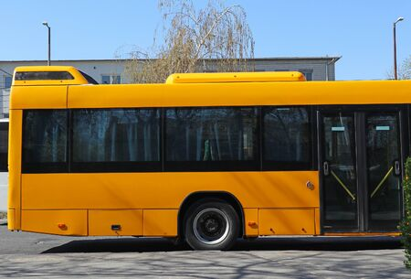 Bus standing at the terminal Stock fotó
