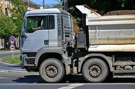 Truck on the city street
