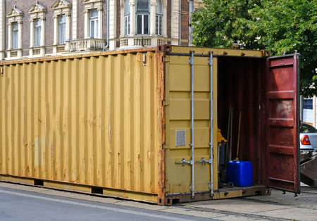 Large container for freight transportation
