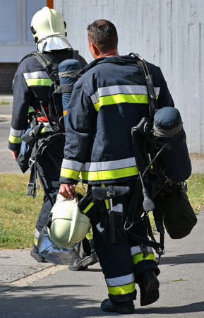 Firefighter at the scene of a fire