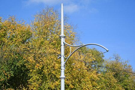 Electricity pole of the tram line 版權商用圖片