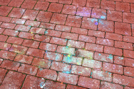 Stain spots on the brick road