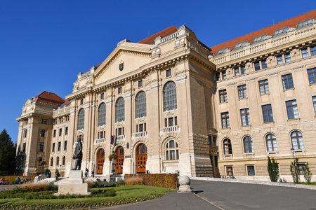 Building of the university of Debrecen, Hungary 新聞圖片